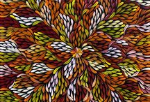 Aboriginal Art | Warm Tones / Decorating with aboriginal art in warm and earthy tones