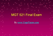 MGT 521 Final Exam Latest UOP Complete Class Assignments