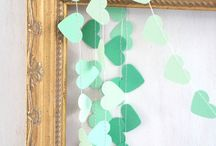 Mint and purple wedding decorations
