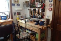 Jewelry Studios / See how jewelry artists store and organize jewelry supplies and beads, in these creative jewelry studios. / by Jewelry Making Journal