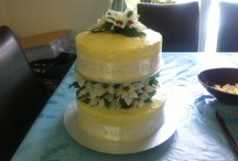 White Chocolate Engagement Cake