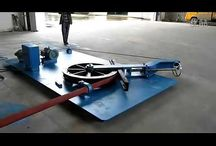 light pole bending machine