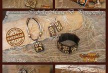 Pirografia- bracciali, ciondoli, orecchini e altro