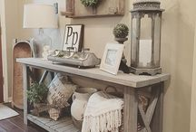 Lighting to Match with Console Table