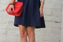 紺色スカート