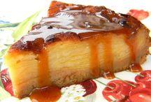 Gâteau au pommes et caramel au beurre salé