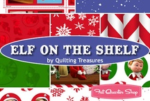 Elf on the Shelf fabric by QT / by Quilting Treasures