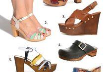 Chaussures à talons bois