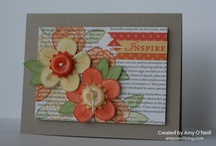 Stampin up flowers / A board for ideas using various flower stampsets from Stampin up
