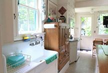 vintage kitchens / pantries / A collection of vintage kitchens and pantries.