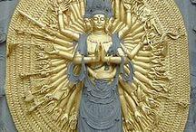Mooie boeddha's en tempels