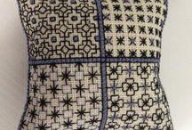 ブラックワーク刺繍