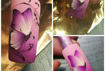 γραμμικο nail art