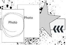 Скетчи на два вертикальных фото