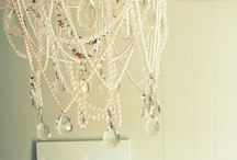 lamp shade chandelier