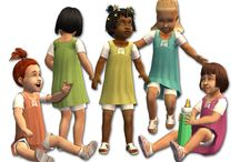Clothes for toddlers. / Cute toddler's clothes for Sims .