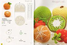 Crocheted fruit and vegetables