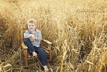 Wheat field family photos / Photos in wheat field / by Sarah Vest Donley
