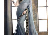 grey saree