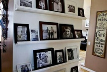black and white frames photo wall