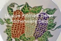Unique Kitchen Items And Kitchenware / Clearly Susan's unique kitchen items and kitchenware sets hand painted will add that special touch to your kitchen or table. Our sets are unique in that we love to paint the unusual.   Our kitchenware includes canisters, oil and vinegar cruets, napkin holders, soap dispensers and spoon rests and egg cups https://www.clearlysusan.com/Kitchenware_c_170.html; contact us support@clearlysusan.com; 404 290 3238