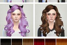 The Sims 4 Hair&Hair Colors(CC)