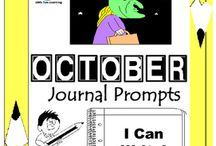 October Writing Prompts Quick Writes / October Writing Prompts Quick Writes. Creative writing prompts for everyday in the month of October. Though your students may not have highly developed writing skills to express their thoughts, they do have bright imaginations filled with all sorts of creative ideas.