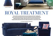 Style Directions - Royal Treatment / The boldest, most brilliant blues in home furnishings today.