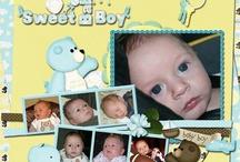 Page scrapbooking baby boy / Page scrapbooking baby boy
