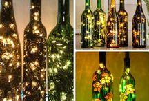 Бутылочки / Куда деть пустые бутылки после праздника?