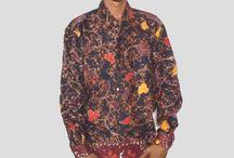 Kemeja Batik Pria Lengan Panjang Hitam [1234]