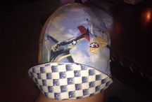 Welder's Cap / Reversible hat made from cotton.  Has 6 pieces to each hat plus the brim.