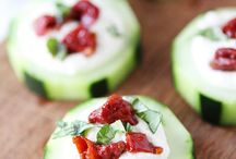 Party canapes / Cucumber n feta