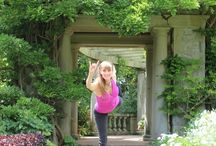 """Yoga in Colwood - Hatley Castle / Pictures of Laura doing yoga at the X-Men castle in Colwood BC.  """"Hatley Park National Historic Site is located in Colwood, British Columbia in Greater Victoria. It is the site of Hatley Castle, a Classified Federal Heritage Building. Since 1995, the mansion and estate have been used for the public Royal Roads University."""" (from Wikipedia)"""
