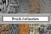 Brick Digital Papers - Brick and Stone - Commercial Use / Brick Digital Papers - Brick and Stone - Commercial Use. WELCOME to this STUNNING collection of Brick Digital Paper images.  This bundle contains 124 high-quality COLOR Brick  Digital Paper images. Images saved at 300dpi in PNG files.  #brickdigitalpapers
