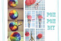 Pompones, ideas originales