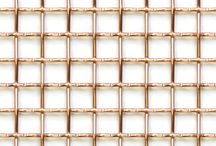 Copper and brass weavemesh / Copper and brass weavemesh