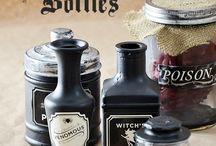 H:  halloween bottle ideas / by Marsha Stepp