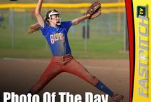 Softball Photo Of The Day / To see your favorite photo featured as The Fastpitch TV Photo Of The Day, submit your photos at http://Softball.Photos/  Tip 1. Don't send photos with text in them. Tip 2. Players needs to be wearing their uniforms.