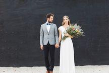 Urban Wedding / Urban wedding // Modern Wedding // Trend 2016 // Bohemian // Brautlook // Cool Couple  (Foto: Donlinh H&M: Franziska Sonnabend)