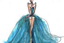 Watercolor fashions