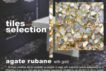 Tiles Selection - Agate Rubane with Gold