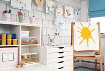 Kids Art Studio | Atelier / Kids art room and studio ideas. For creative little people.
