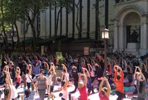 Bryant Park Yoga / Photos from our summer outdoor yoga series held in Bryant Park. Classes are Tuesdays @ 10am and Thursdays @ 6pm through September 18, 2014. Join us! / by YogaWorks