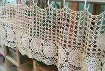 almohadones, cortinas, carpetas y caminos d mesa a crochet