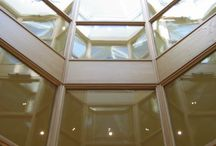 Glass Atriums / A glazed atrium can be a magnificent centre piece which opens up the heart of the building.