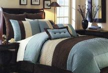 Brown and blue bedrooms