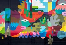 Google Murals / Google is Turning Data Centers into Blank Canvases for Public Murals. Data centers aren't known for their people-friendly, accessible design (it's often quite the opposite). But with its new Data Center Mural Project, Google is asking artists to help rebrand these ominous, enormous data-storing structures with public art.