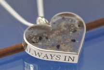 Cremation Jewelry & Keepsakes / this is a board of cremation jewelry and unique keepsakes that can be made from a love one's ashes