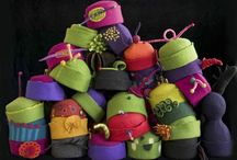 Color / wonderful felt hats - www.laurichambers.com/index.htm / by Sharon McKendry